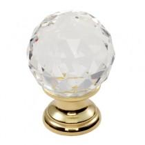 Fingertip Design FTD670 Lead Crystal Clear Faceted Knob